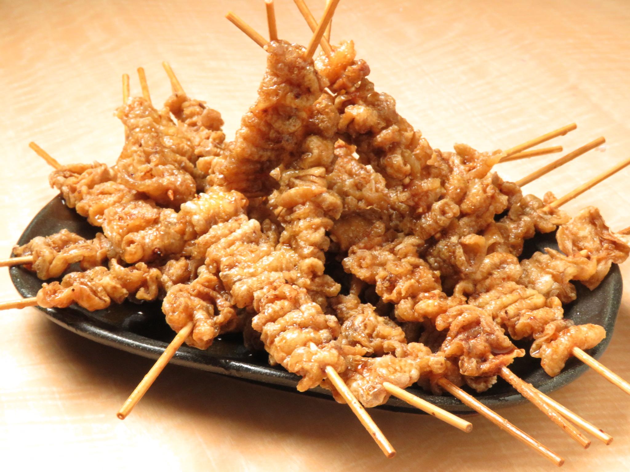 目白の鶏料理専門店[とりいちず]の絶品とり皮
